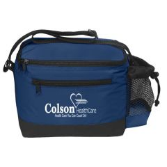personalized lunch bag with side mesh pocket