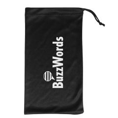 personalized carrying pouch with drawstring closure