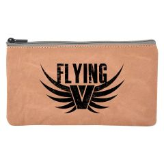 personalized carrying pouch with zippered main compartment