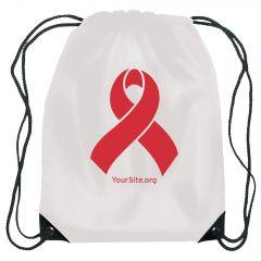 World AIDS Day Ribbon Drawstring Bag