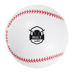 personalized baseball beach ball with imprint on front