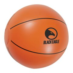 personalized basketball beach ball with imprint on front