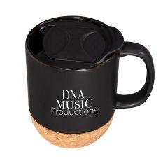 Ceramic Mug w/ Cork Base 14 Oz.