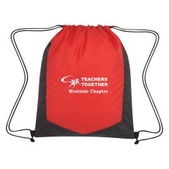 personalized polyester drawstring bag