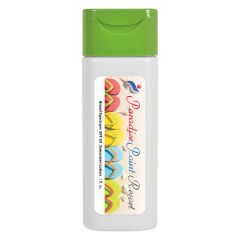 personalized sunscreen bottle with green top