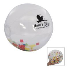 personalized clear beach ball with confetti inside