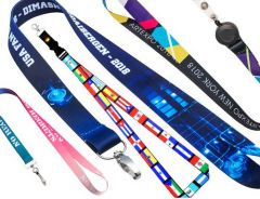 "Full Color Lanyard 3/4"" with Metal Lobster Clip"