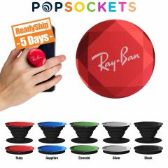 personalized colored diamond popsockets with laver engrave