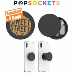 personalized black popsocket with small compartment