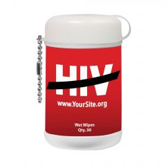 End Hiv Mini Wet Wipe Canister