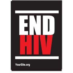 Stacked End HIV Sticker