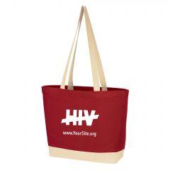 End HIV Cotton Canvas Tote Bag
