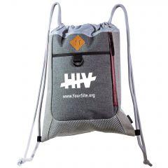 End HIV Premium Drawstring Bag