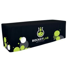 personalized black table cover with design