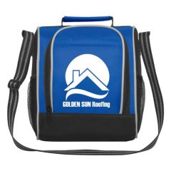 lunch bag with adjustable strap and main zippered compartment
