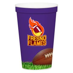 personalized cup with full color imprint saying fresno flames