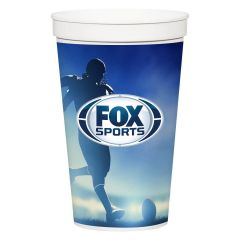 personalized cup with full color imprint saying fox sports