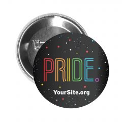 Gay Pride Neon Button Pin