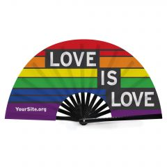 Gay Pride Love Is Love Snap Fan