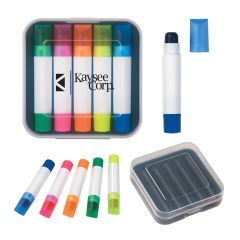 personalized colored highlighters with translucent caps