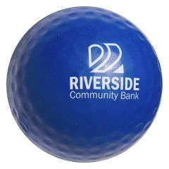 personalized blue golf ball with imprint in the middle