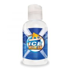 a 2 oz. hand lotion bottle with a full color imprint saying ice mountain