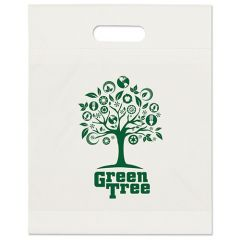 a white plastic bag with an imprint saying Green Tree