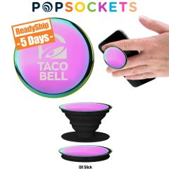 iridescent popsockets popgrip with the taco bell logo