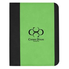 personalized green and black padfolio