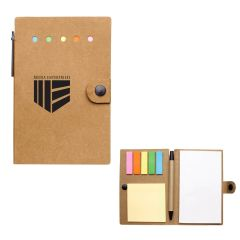 custom notepad with sticky flags