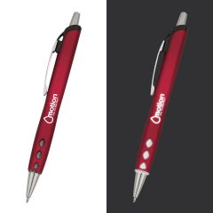 red light up pen with an imprint saying motion oil company