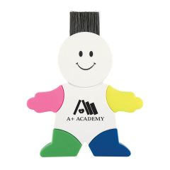 personalized highlighter with legs and arms being different color highlighters and computer sweeper