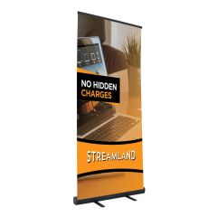 banner with customized graphic