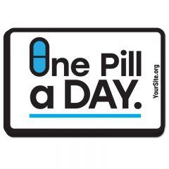 One Pill A Day Sticker