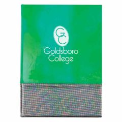 personalized green pearlescent journal