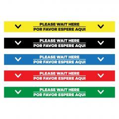 "Please Wait Here English/Spanish Floor Decal - 24"" X 4"""