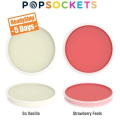 vanilla and strawberry flavored lip balm inserts for popsocket