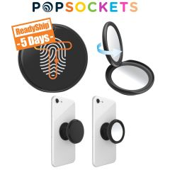 personalized black popsocket with included mirror
