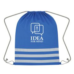 personalized drawstring bag with reflective strips