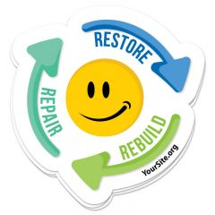 Repair Restore Rebuild Sticker