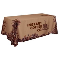 personalized full bleed table cover with logo design