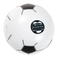 personalized soccer ball beach ball with imprint on front