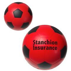 personalized red soccer ball stress reliever