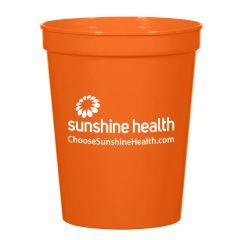 personalized orange plastic cup