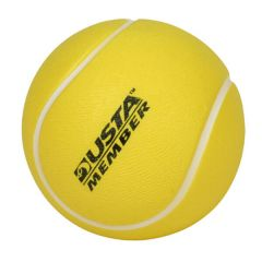 personalized yellow tennis ball with imprint on front