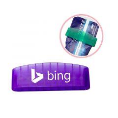 personalized purple translucent toothpaste squeezer