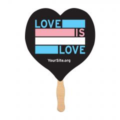 Trans Love Is Love Mini-Fan