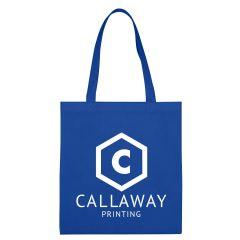 blue tote bag with an imprint saying callaway printing