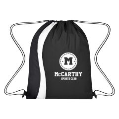 personalized drawstring bag with wave design