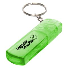 personalized green safety whistle and compass